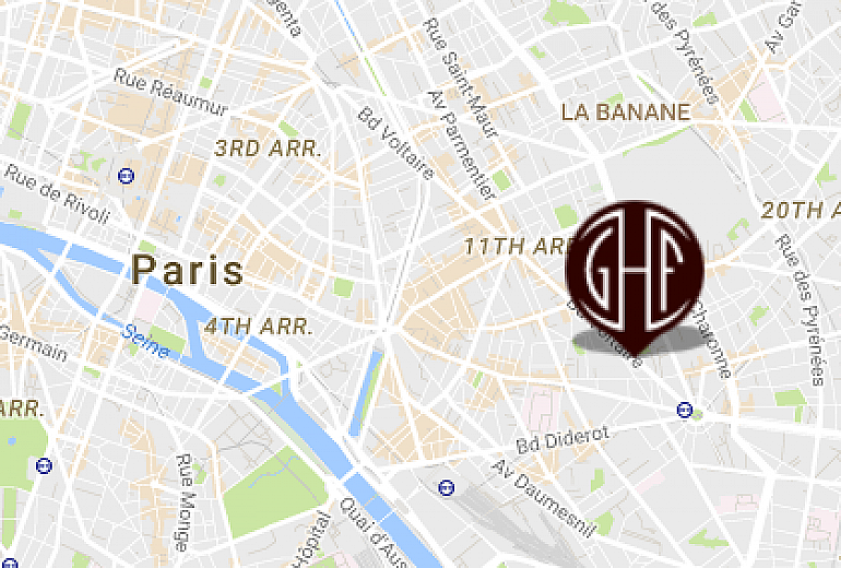 Location map, Paris